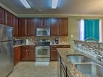 Try out your favorite recipes in the fully equipped, gourmet kitchen.