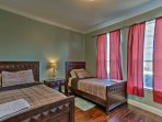 The third bedroom includes 2 twin beds.