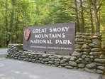 Great Smoky Mountains National Park is just steps from your door!
