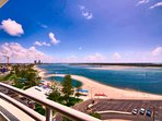 Stunning views of the lagoon, beach and waterways.