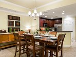 Share family feasts in the elegant dining space.