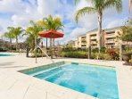 Enjoy a luxurious getaway in the multi-million dollar Reunion Resort complex at this vacation rental condo in Kissimmee.