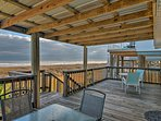 Enjoy a meal al-fresco on the covered deck.