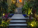 Stunning entrance with Lotus pond