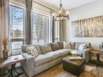 Beautiful second living room area with fantastic views.