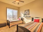 Kids will love sharing bedroom 3, complete with 2 twin beds and a twin trundle bed.