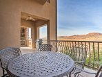 Amazing mountain vistas can be found right on your private balcony.