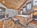 Grand Master Suite with King Bed, Smart TV, Fireplace and Wooded Views
