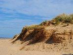 Stunning sand dunes at Wells-next-the-Sea beach.