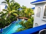 Condo overlooks the pool