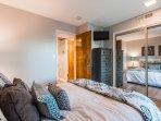 Bedroom - Queen Bed w/ TV