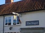 Angel pub in High street serving tasty traditional pub food