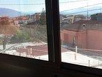 Panoramica dalla sala da pranzo.