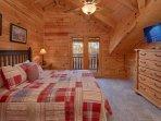 upstairs bedroom - Queen bed - private balcony