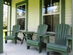 Relax on the porch at Swim House located in Rockland, Nova Scotia