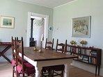 Enjoy eating meals together in the large dining room