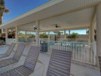 Enjoy a sunny day at the pool.  There's a grill to use for family berbecue's.
