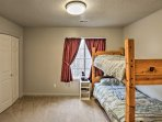If the kids prefer bunks, they'll love this third bedroom with a traditional twin-over-twin set.