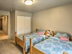 Two youngsters in the group will be able to claim one of these 2 twin beds in the second bedroom.