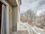 Enjoy unobstructed views from the patio.