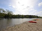Enjoy a day of canoeing along the River Wye