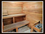 you will have access to the sauna in the clubhouse
