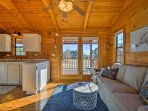 Enjoy the scenic views framed by the windows throughout the home.