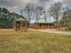 This charming cabin is nestled on 10+ acres!