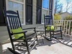 Two rocking chairs on the front porch welcome you home to Falling Moss.