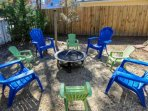 S'mores anyone?  Guests of Falling Moss are welcome to use the fire pit in the home's fenced backyard.