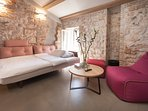 Casa Amando - penthouse - living room & sleeping sofa with extra topper (140x200)
