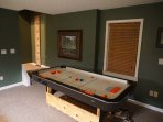Air Hockey Table in Basement Game Room