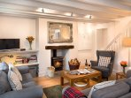 After long walks on the beach, come home to the wood burner for cosy evenings by the fire.