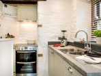 Double oven, grill, induction hob, all you need.