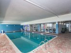Indoor pool and hot tub for year 'round enjoyment.  Waters Edge is a great place to escape winter.