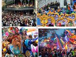 February Mardi Grad, parades,  marching bands, beautiful second floats,  fun, fun and more