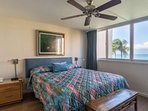 The condominium has both ceiling fans and air conditioning.