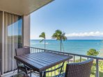 Beautiful ocean views from the private Lanai!