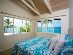 Upstairs bedroom equipped with a King bed and pnenominal view!