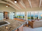 Newly Remodeled Kitchen with a clear view of the ocean!