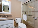 Up dated Master Bath room , walk-in shower, grab bar, granite counter
