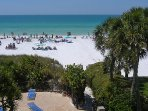 Our Private Beach, on the white crystal sand of Siesta Beach.