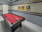 Garage Game Area w/Convertible Ping Pong /Billiards Table
