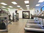 private exercise room with security 24 hour at elevators