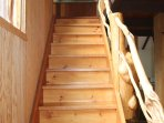 Hand made staircase to upstairs