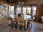 Custom Log Dining Table and Chairs