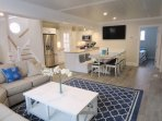 Open floor plan with coastal decor-  1 Bayberry Lane Eastham Cape Cod - New England Vacation Rentals