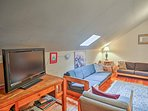 Relax in the loft living space with the flat-screen TV!