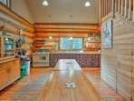 Prepare delicious home-cooked meals and snacks in the well-equipped kitchen.