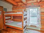Climb into one of the bunk beds for a peaceful night's sleep.